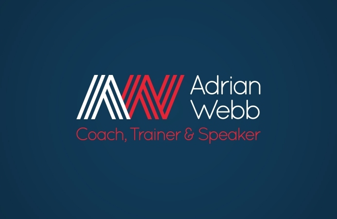 Adrian Webb (Southampton) - Logo Design (Blue Background)