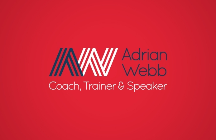 Adrian Webb (Southampton) - Logo Design (Red Background)