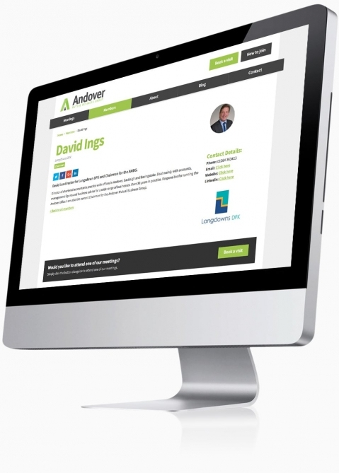 Andover Mutual Business Group - Website Design (Member Profile)