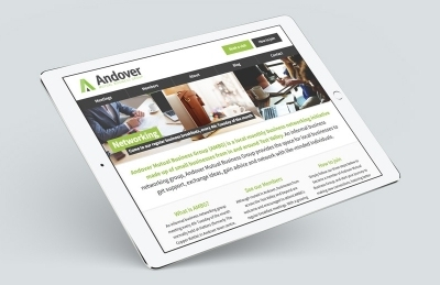 Andover Mutual Business Group (Andover), Website Design