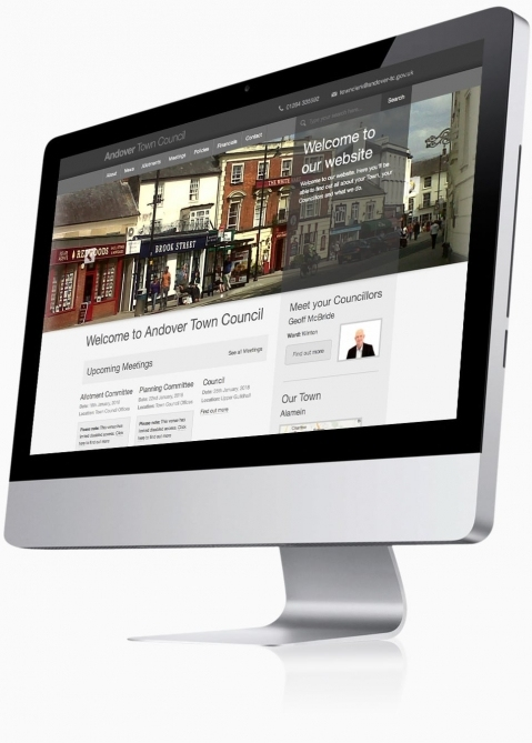 Andover Town Council - Website Design (Home)