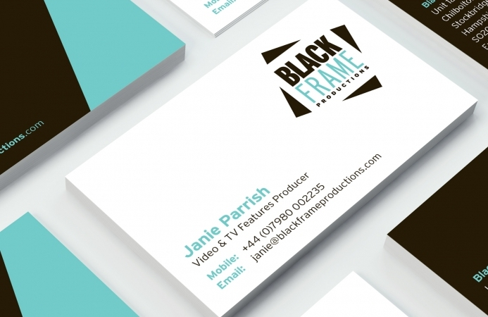 Black Frame Productions (Andover) - Business Cards (Back)