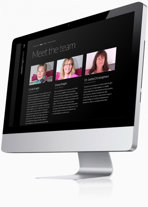 Cindy Knight Clinic (Tonbridge, Kent) - Website Design (Meet the team)