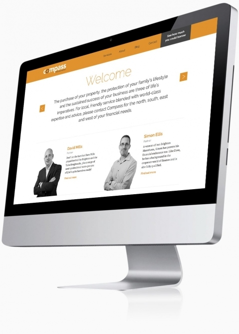 Compass Personal Finance (Southampton) - Website Design (Home)