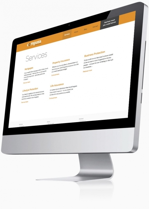 Compass Personal Finance (Southampton) - Website Design (Services)