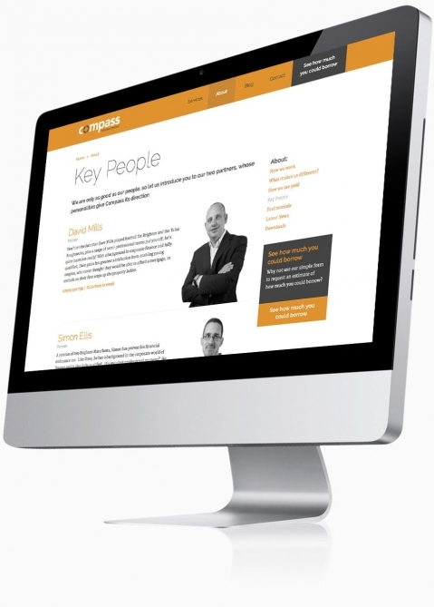 Compass Personal Finance (Southampton) - Website Design (Key People)