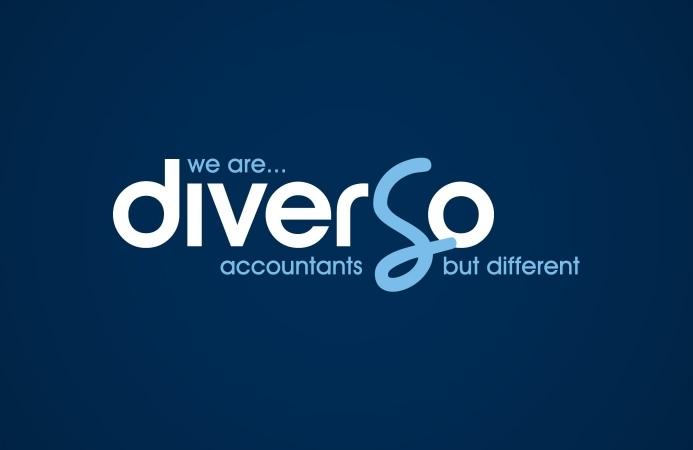 Diverso Accountants (Southampton) - Logo Design (Navy Background)