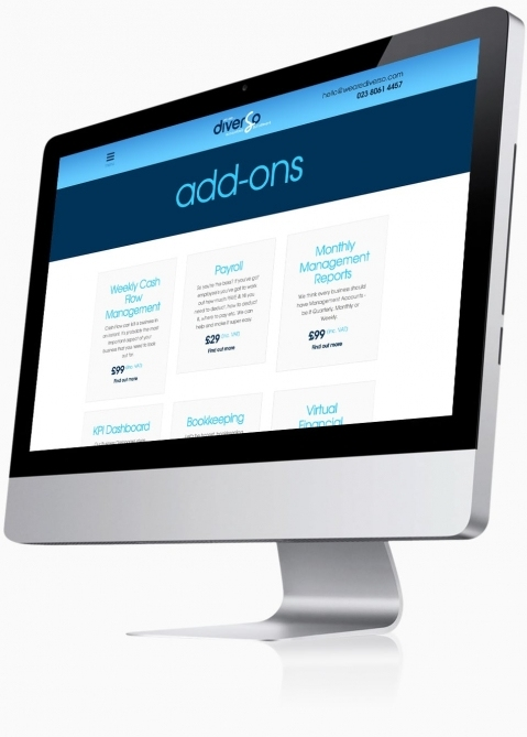 Diverso Accountants (Southampton) - Website Design (Add-ons)