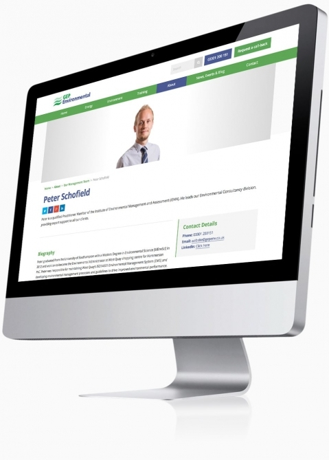GEP Environmental (Winchester) - Website Design (Staff Profile)
