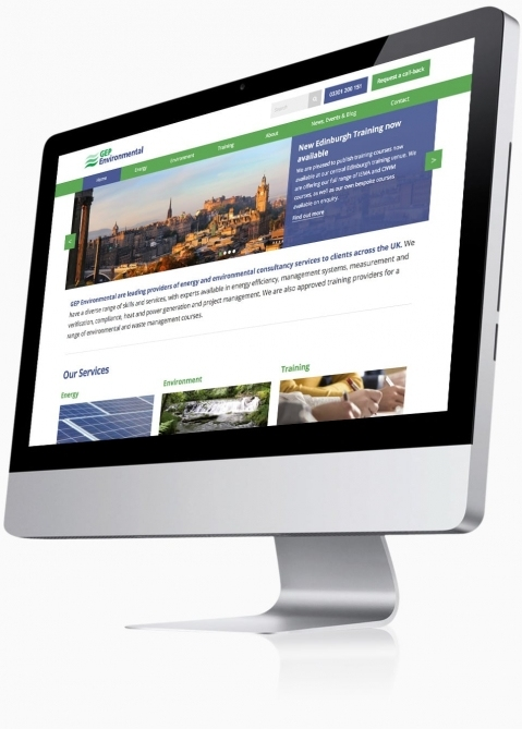 GEP Environmental (Winchester) - Website Design (Home)