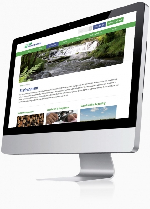GEP Environmental (Winchester) - Website Design (Environmental Services)