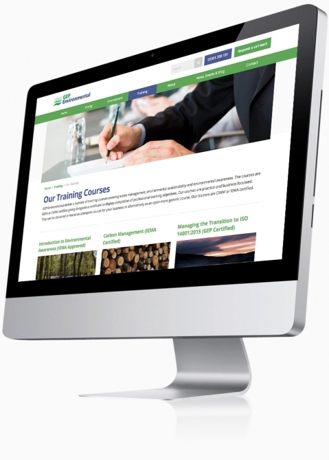 GEP Environmental (Winchester) - Website Design (Training Courses)