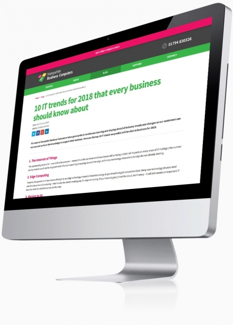Hampshire Business Computers (Romsey) - Website Design (Blog Post)