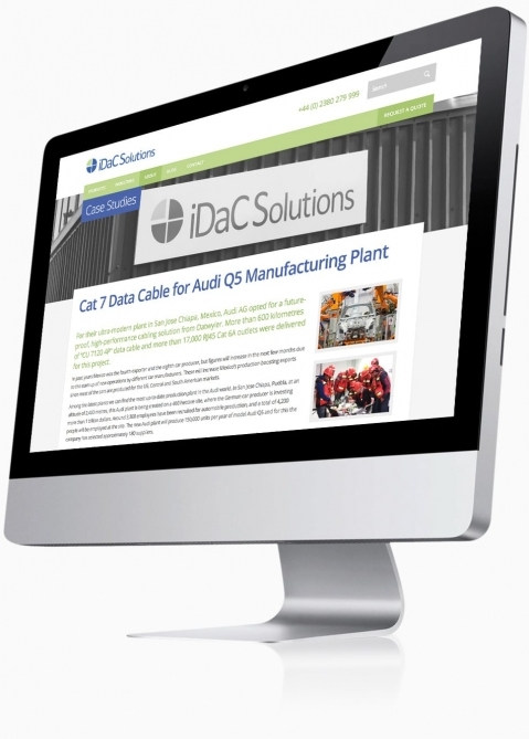 IDAC Solutions (Chandlers Ford, Southampton) - Website Design (Case Study)