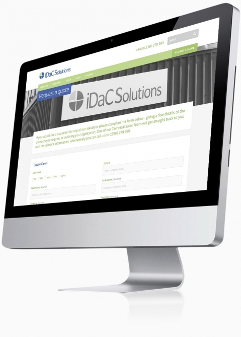 IDAC Solutions (Chandlers Ford, Southampton) - Website Design (Quote Form)