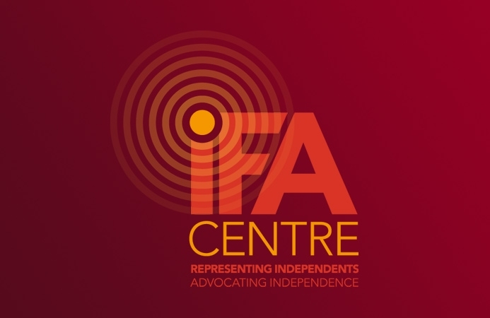 IFA Centre - Logo Design (Negative, Portrait Version)