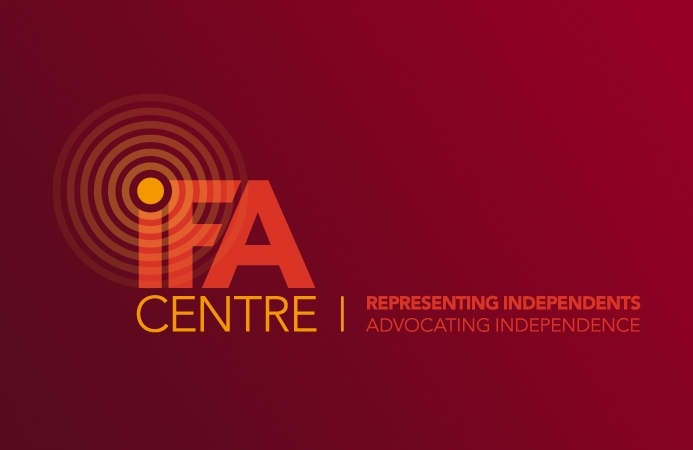 IFA Centre - Logo Design (Negative, Landscape Version)
