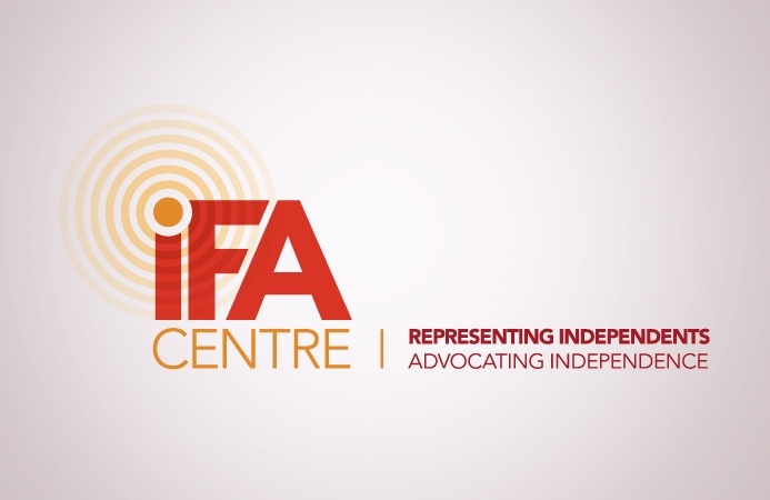 IFA Centre - Logo Design (Positive, Landscape Version)