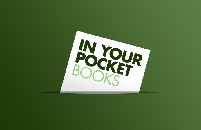 In Your Pocket Books - Logo Design (Negative Version)