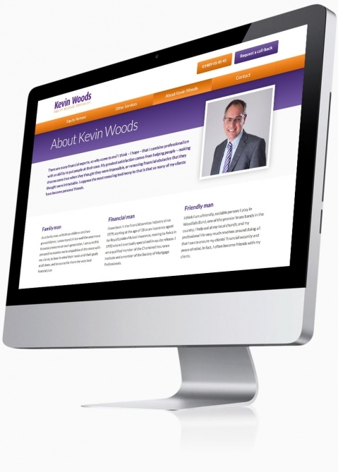 Kevin Woods (Southampton) - Website Design (About)