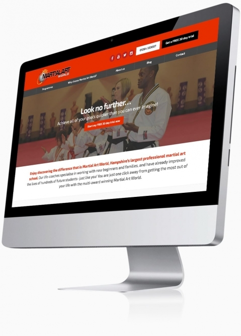 Martial Art World (Andover) - Website Design (Home)