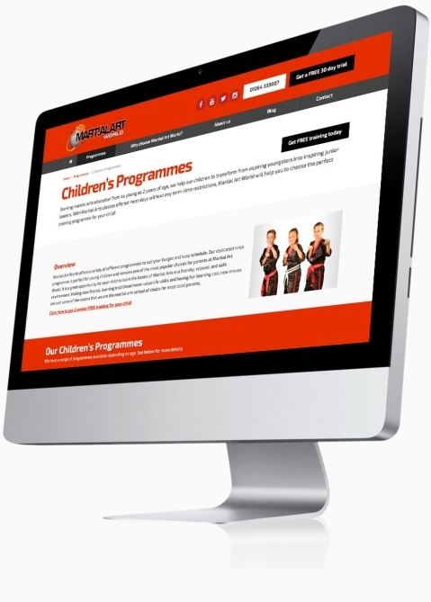 Martial Art World (Andover) - Website Design (Programme)