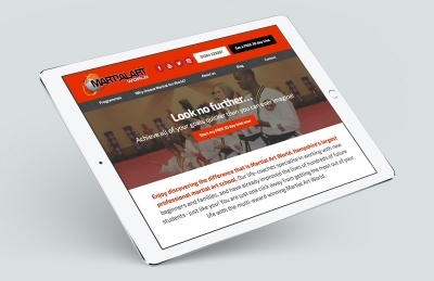 Martial Art World (Andover), Website Design