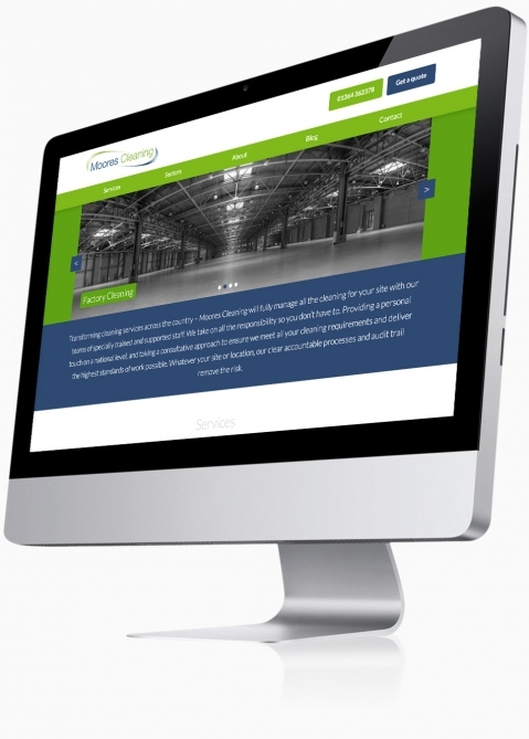 Moores Cleaning (Andover) - Website Design (Home)