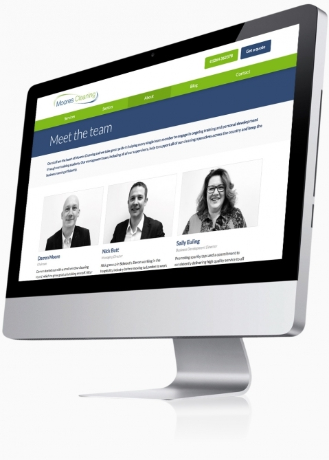 Moores Cleaning (Andover) - Website Design (Meet the Team)