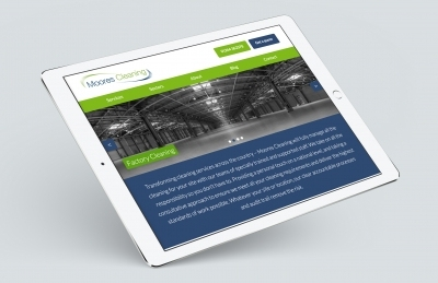 Moores Cleaning (Andover), Website Design