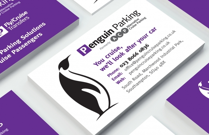 Penguin Parking (Southampton) - Business Card Design (Front}