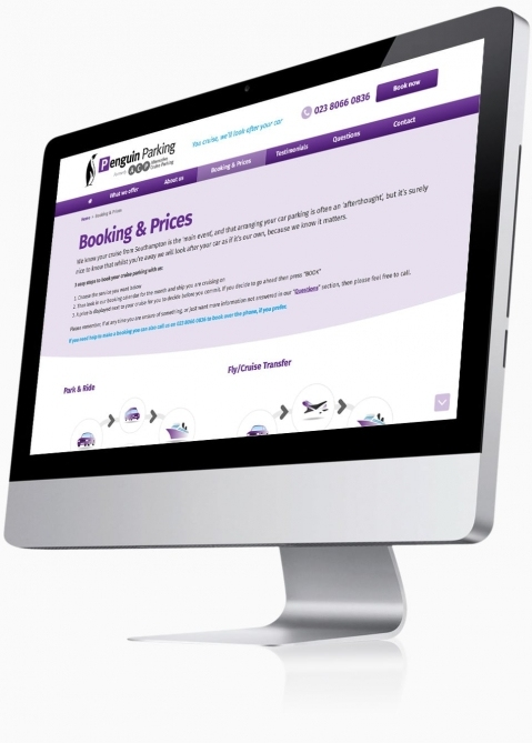 Penguin Cruise Parking (Southampton) - Website Design (Booking & Prices)