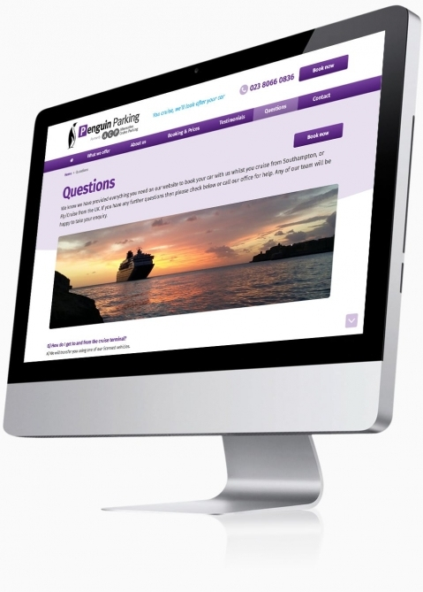 Penguin Cruise Parking (Southampton) - Website Design (Questions)