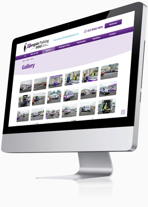 Penguin Cruise Parking (Southampton) - Website Design (Gallery)