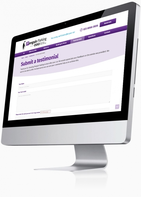Penguin Cruise Parking (Southampton) - Website Design (Submit a Testimonial)