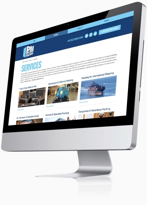 P&M Packing (Southampton) - Website Design (Services)