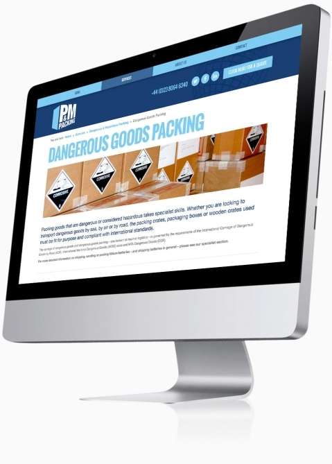 P&M Packing (Southampton) - Website Design (Service Detail)