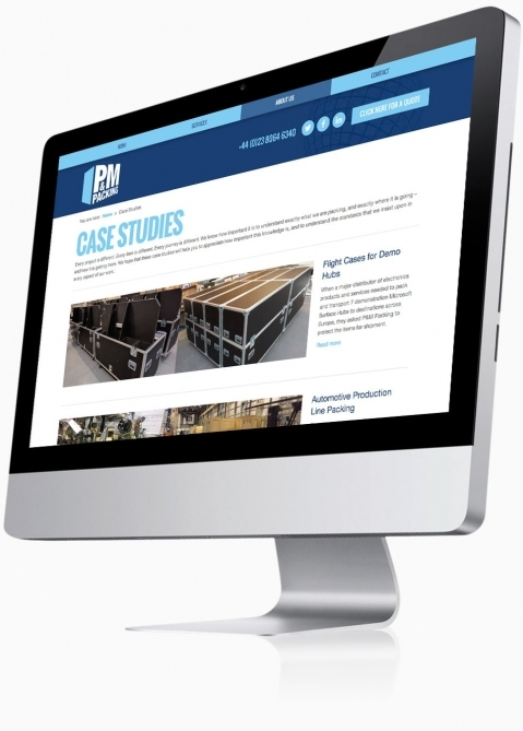 P&M Packing (Southampton) - Website Design (Case Studies)