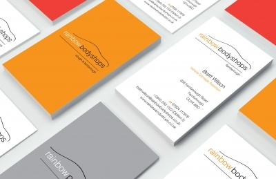 Rainbow Bodyshops (Farnborough), Business Cards