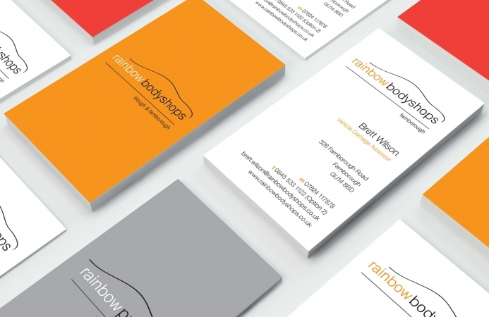 Rainbow Bodyshops (Farnborough) - Business Card Design (Front & Back)