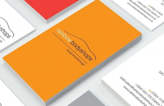Rainbow Bodyshops (Farnborough) - Business Card Design (Back)