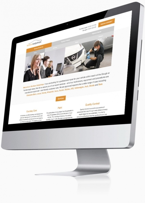 Rainbow Bodyshops (Farnborough) - Website Design (Bodyshops Home)