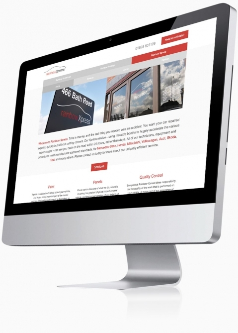 Rainbow Bodyshops (Farnborough) - Website Design (Xpress Home)