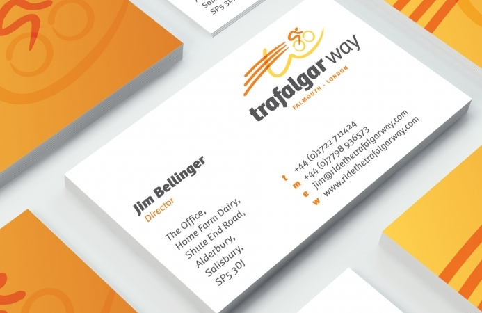 Ride the Trafalgar Way (Salisbury) - Business Cards (Front)