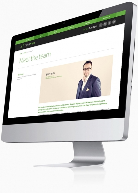 Videofrog Marketing (Winchester) - Website Design (Meet the Team)