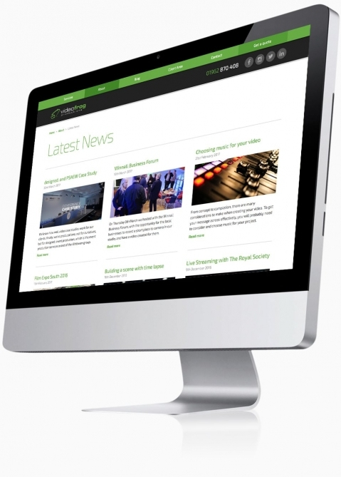Videofrog Marketing (Winchester) - Website Design (Latest News)