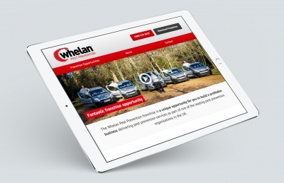 Whelan Franchising (Southampton), Website Design