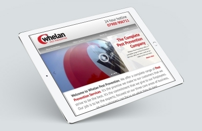 Whelan Pest Prevention (Southampton), Website Design