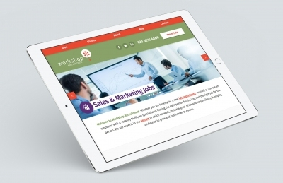 Workshop Recruitment (Portsmouth), Website Design