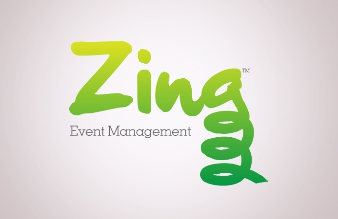 Zing Event Management - Logo Design (Positive Version)